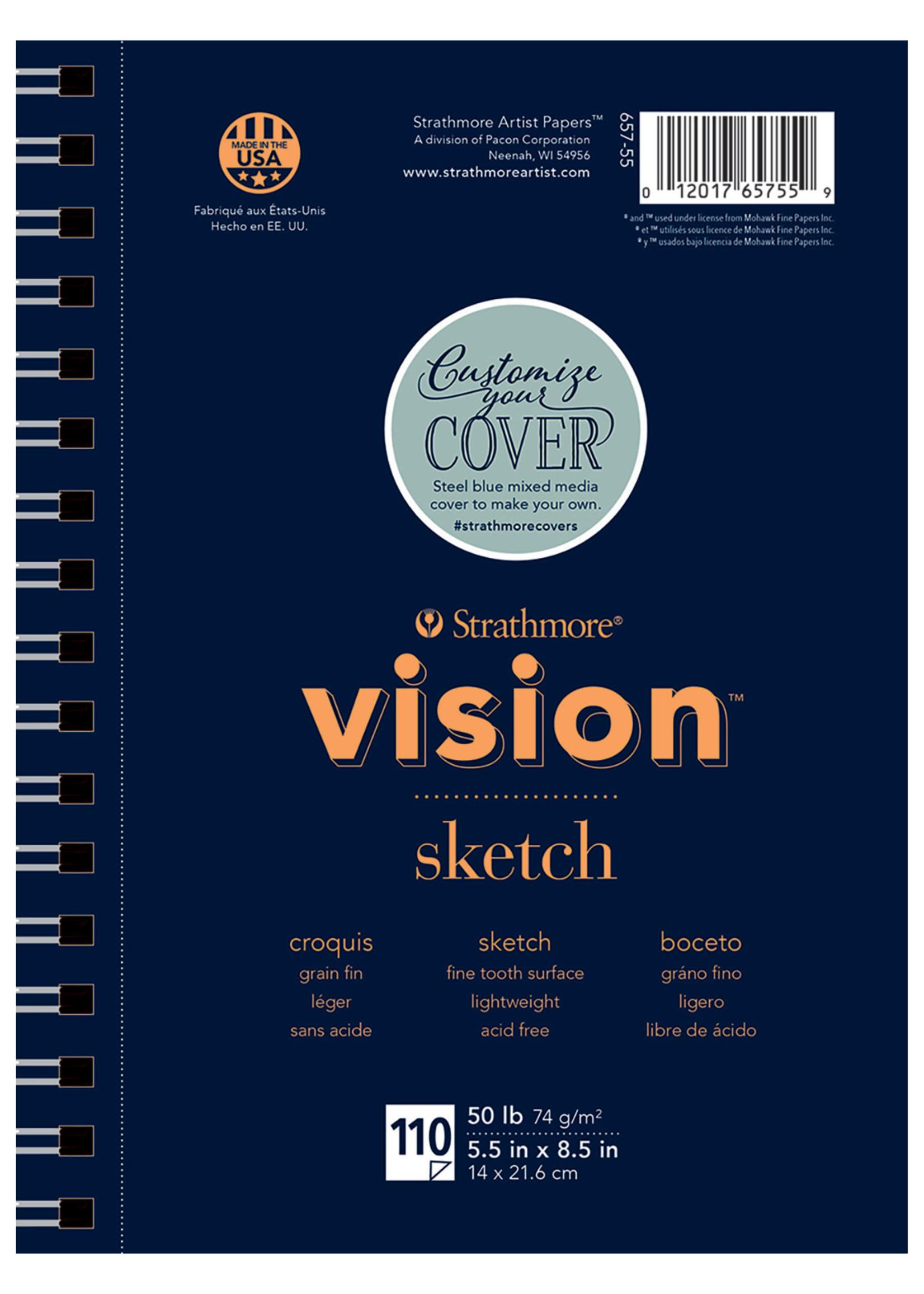 PACON/STRATHMORE VISION SKETCH PAD SPIRAL BOUND 50LB