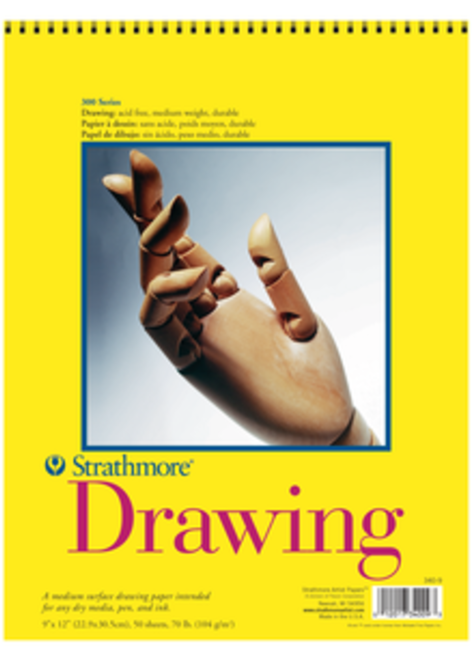 PACON/STRATHMORE TOP DRAWING PAD 70LB
