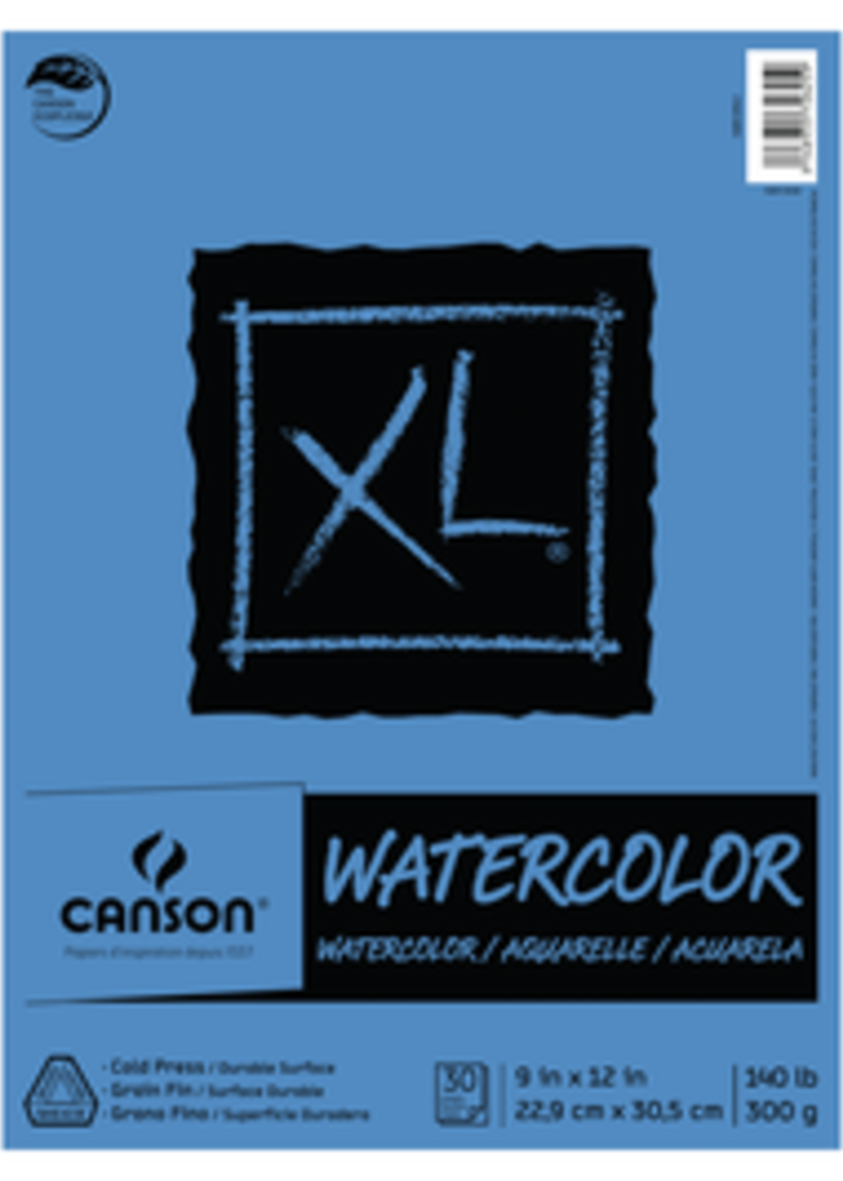 CANSON / PACON PAPERS XL WATERCOLOR PAD 30 SHEETS