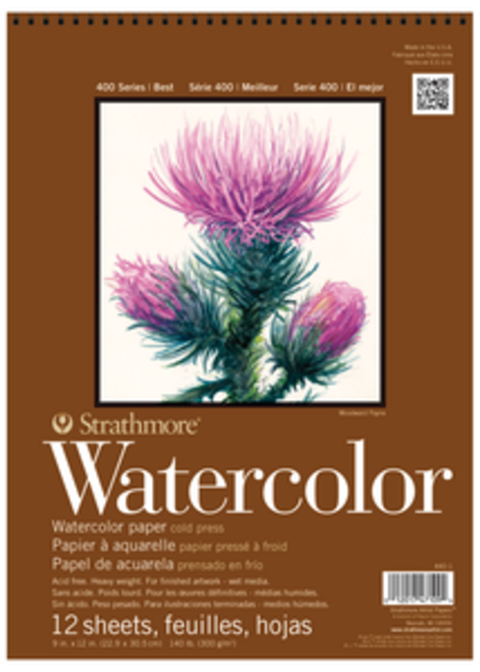 PACON/STRATHMORE WATERCOLOR COLD PRESS PAD