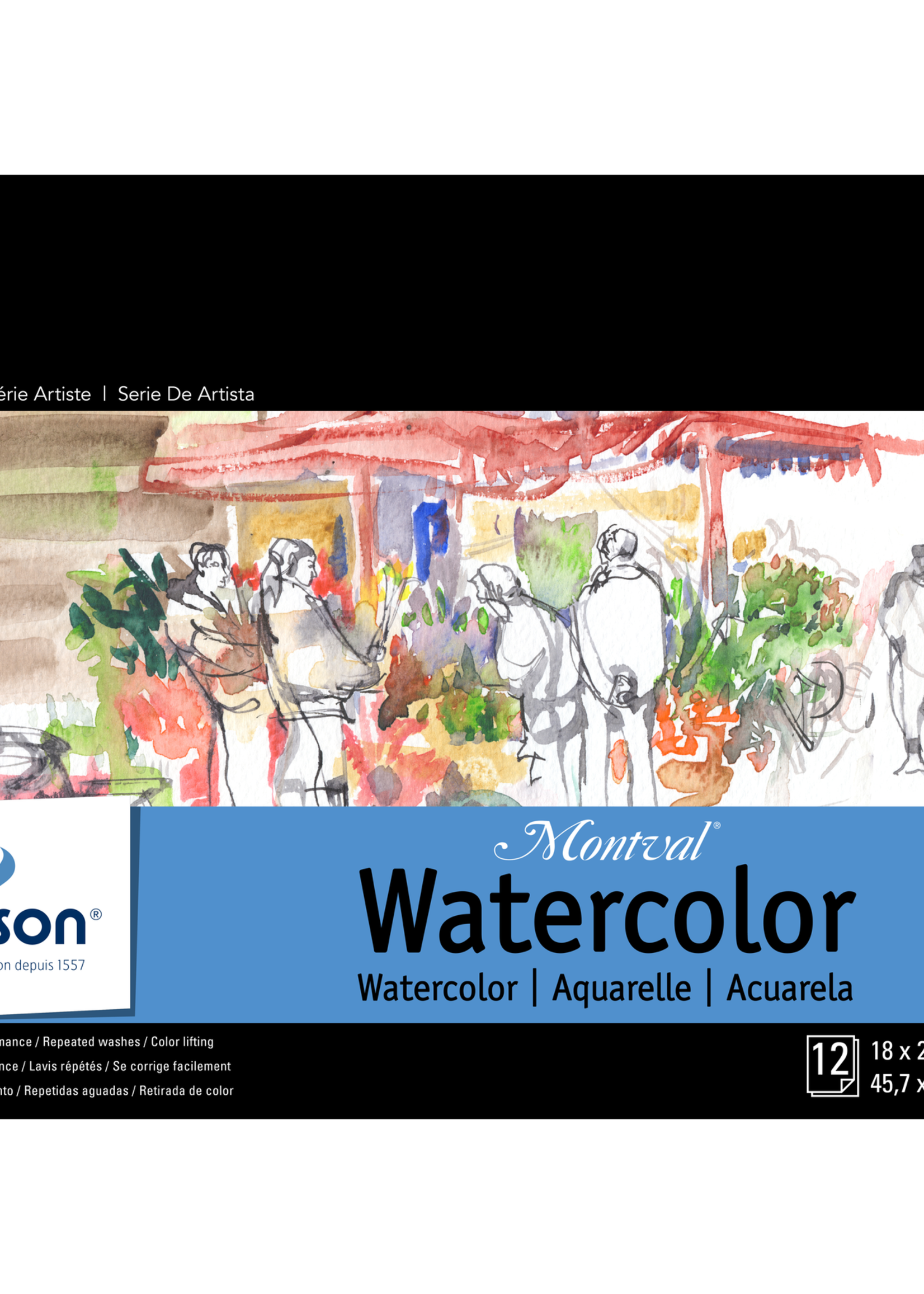 CANSON / PACON PAPERS MONTVAL - WATERCOLOR COLD PRESS 140LB  -