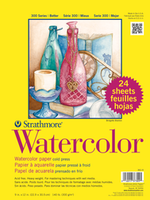 PACON/STRATHMORE WATERCOLOR COLD PRESS  CLASSROOM VALUE PACK -  24 SHEETS 9X12