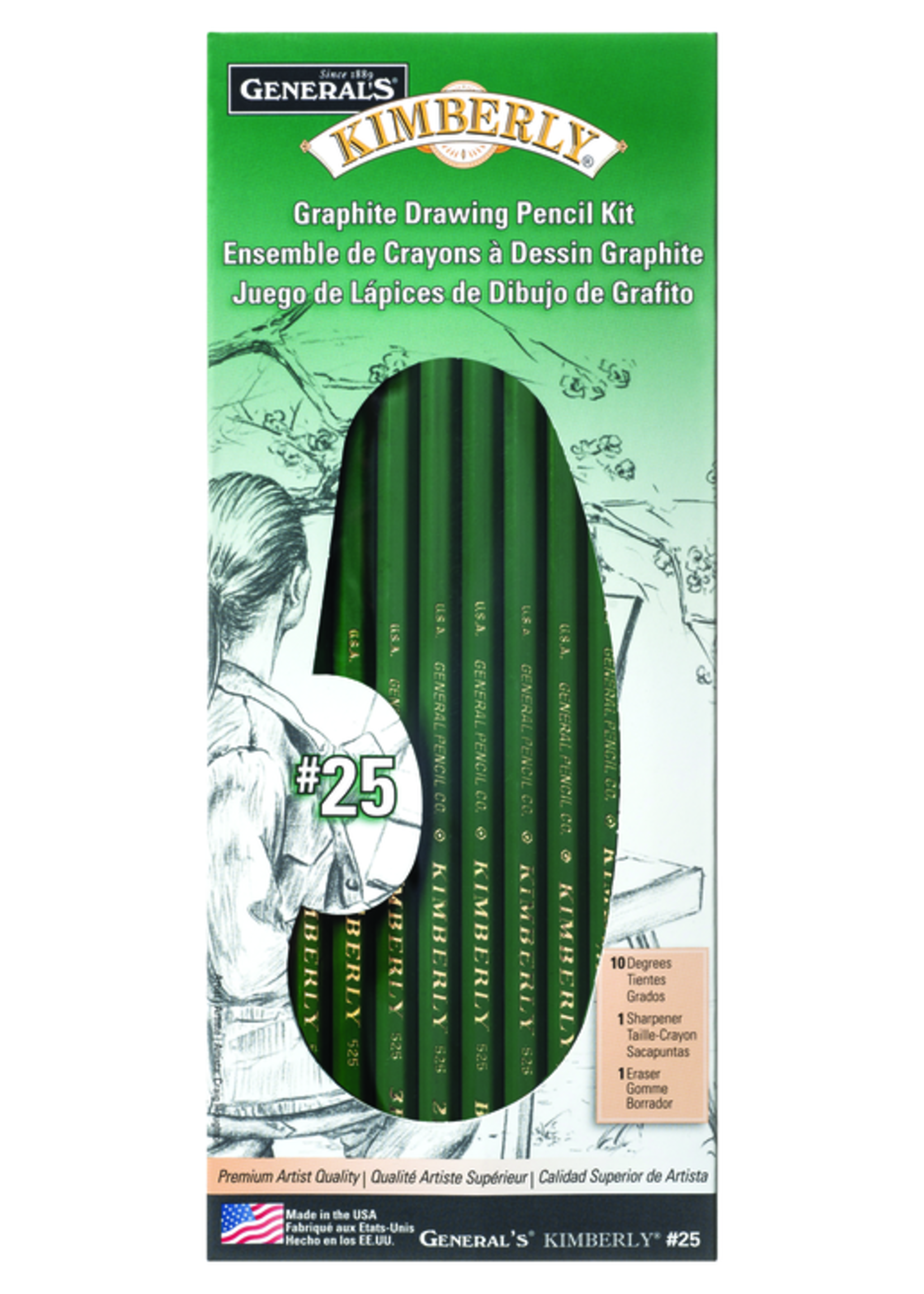 GENERAL PENCIL CO., INC. GRAPHITE DRAWING KIT