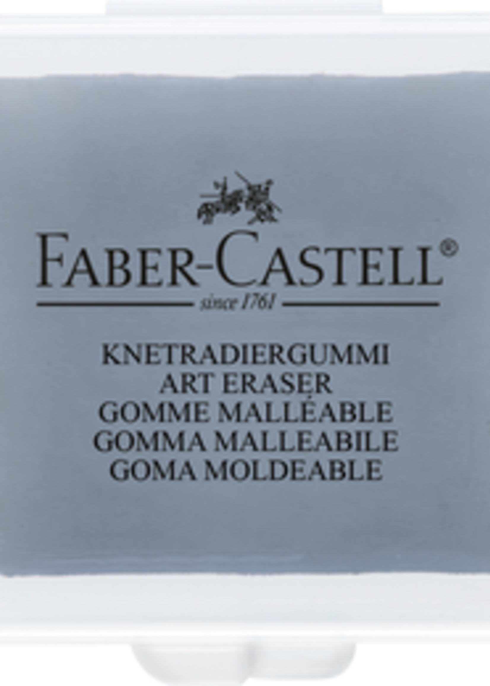 FABER-CASTELL USA KNEADABLE ERASER GREY IN PROTECTIVE CASE
