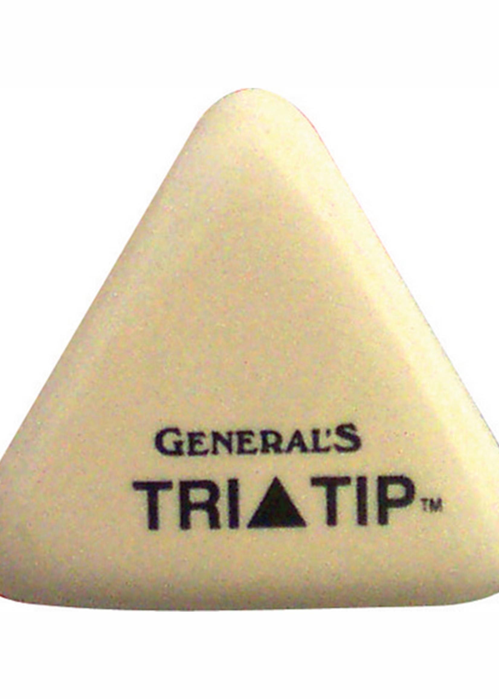 GENERAL PENCIL CO., INC. WHITE VINYL TRI-TIP ERASER