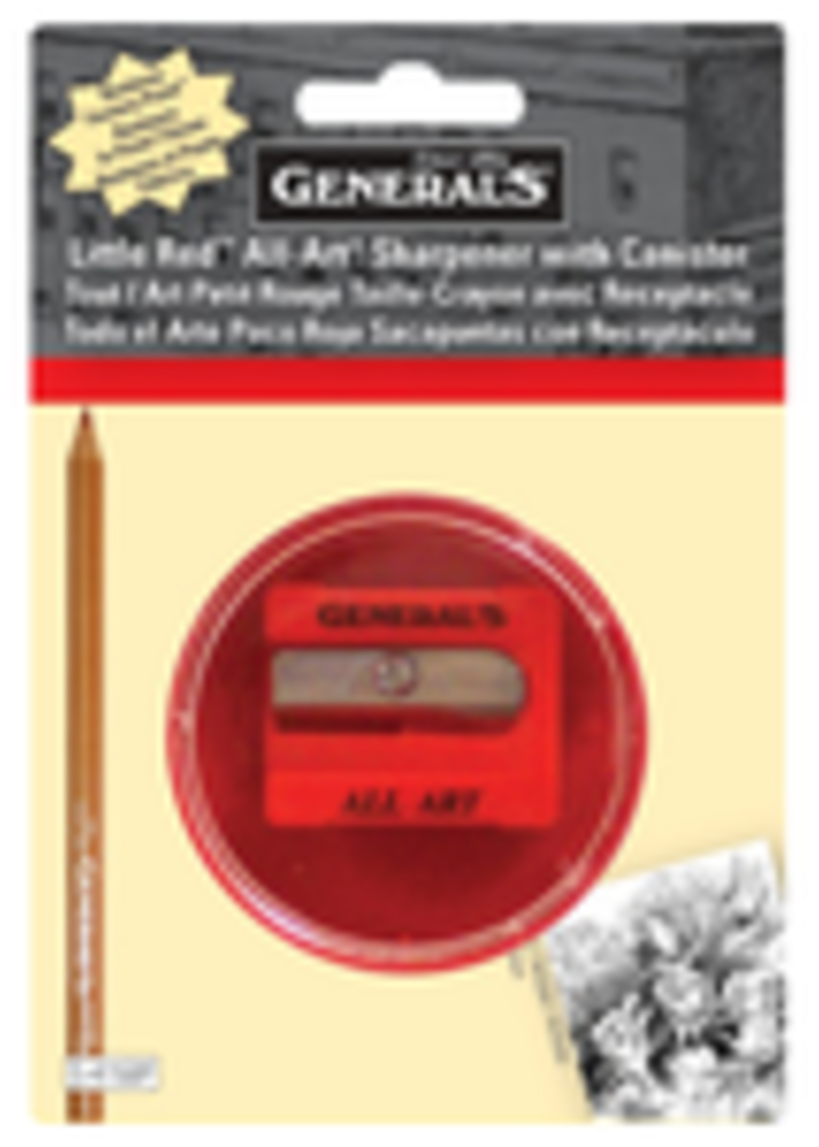 GENERAL PENCIL CO., INC. GP-LITTLE RED SHARPENER W/ CANISTER