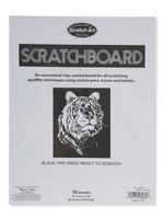 SCRATCH ART SCRATCHBOARD BLACK 10PT 8.5X11 10PK