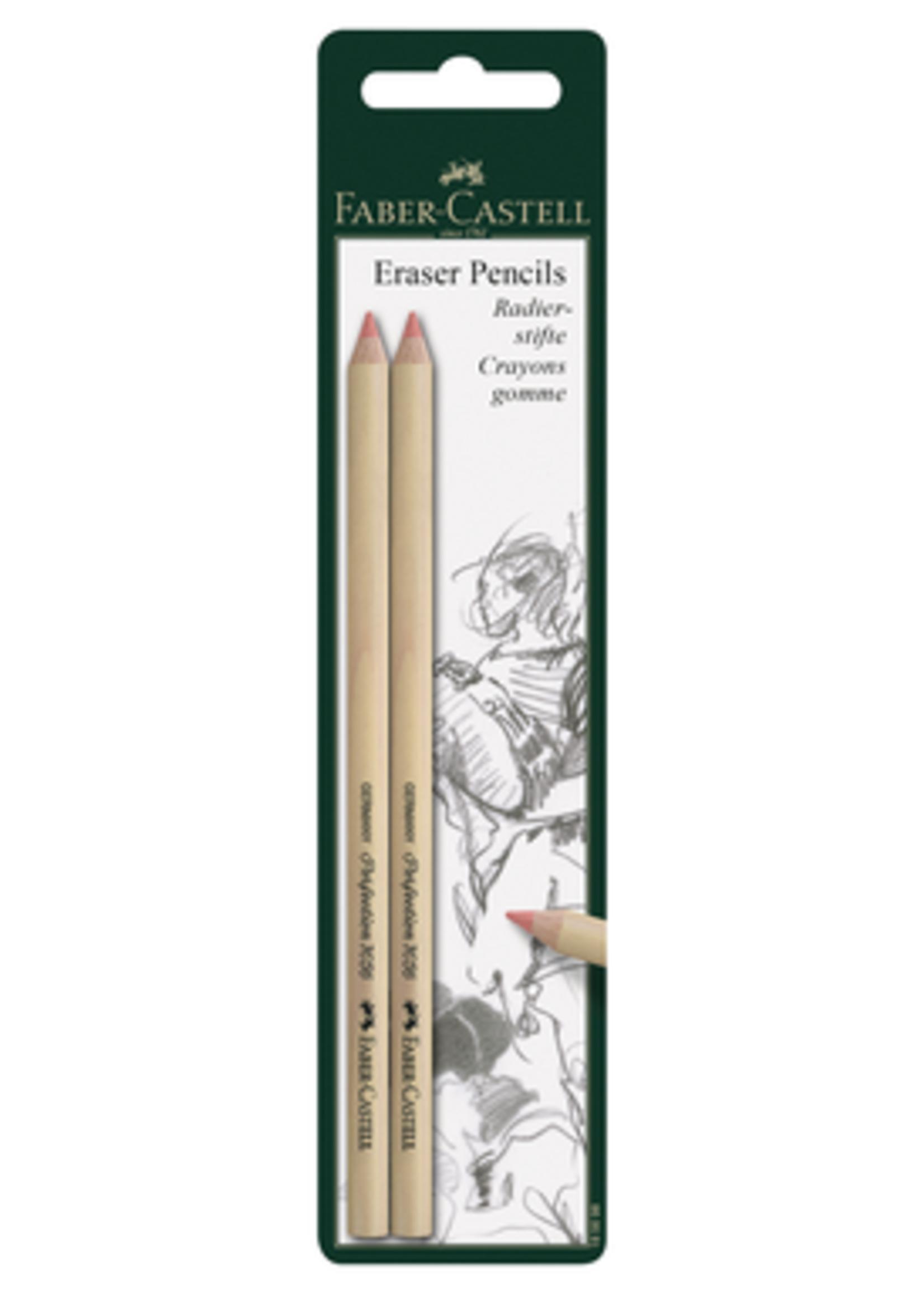 FABER-CASTELL USA VINYL INK ERASER PENCIL 2 PACK CARDED