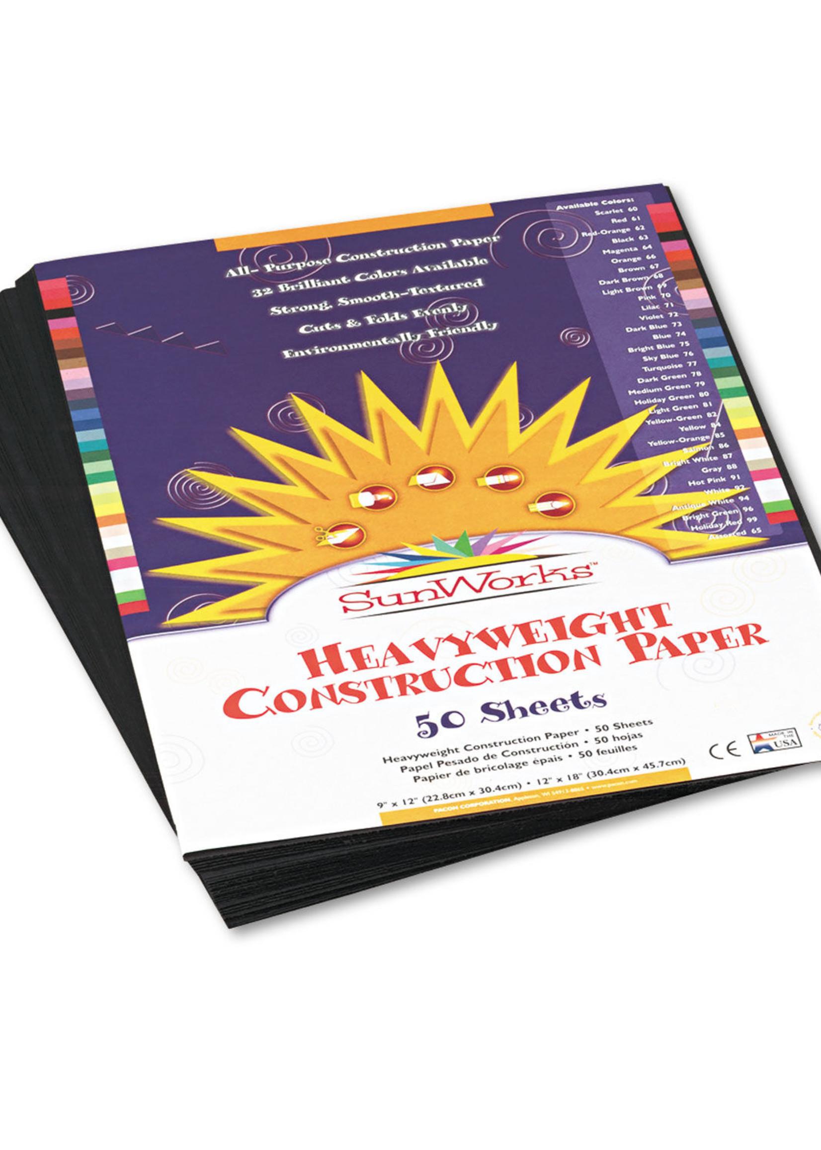 PACON/STRATHMORE SUNWORK CONSTRUCTION PAPER 50SH 9X12