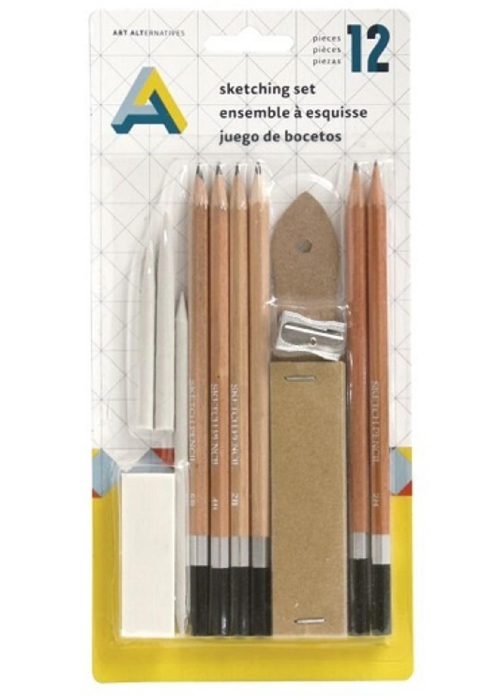 ART ALTERNATIVES SKETCHING SET 12PCS