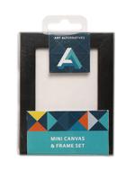 ART ALTERNATIVES MINI BLACK FRAMED CANVAS 2.5X3.5