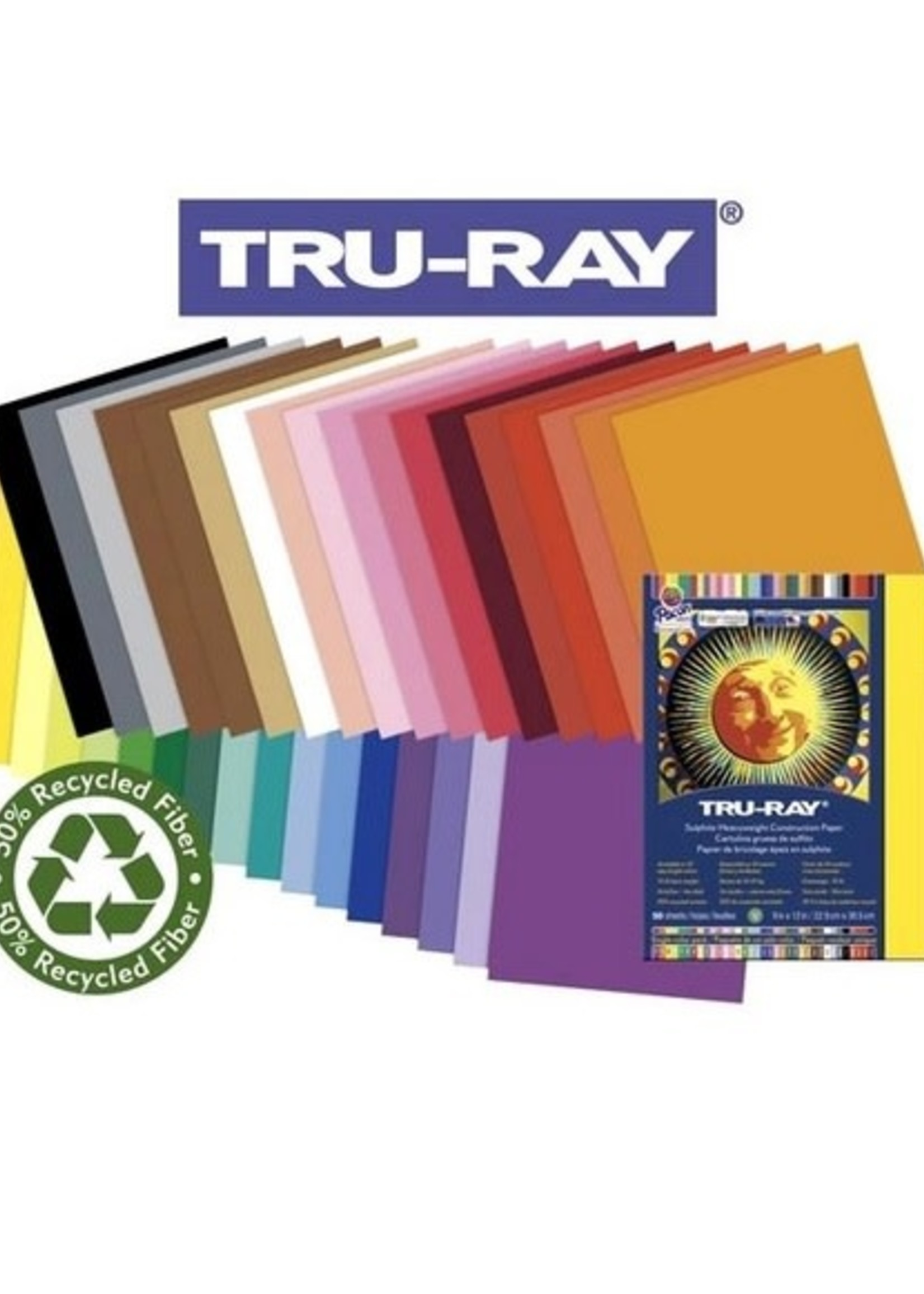 PACON/STRATHMORE TRU RAY CONSTRUCTION PAPER 50/PK