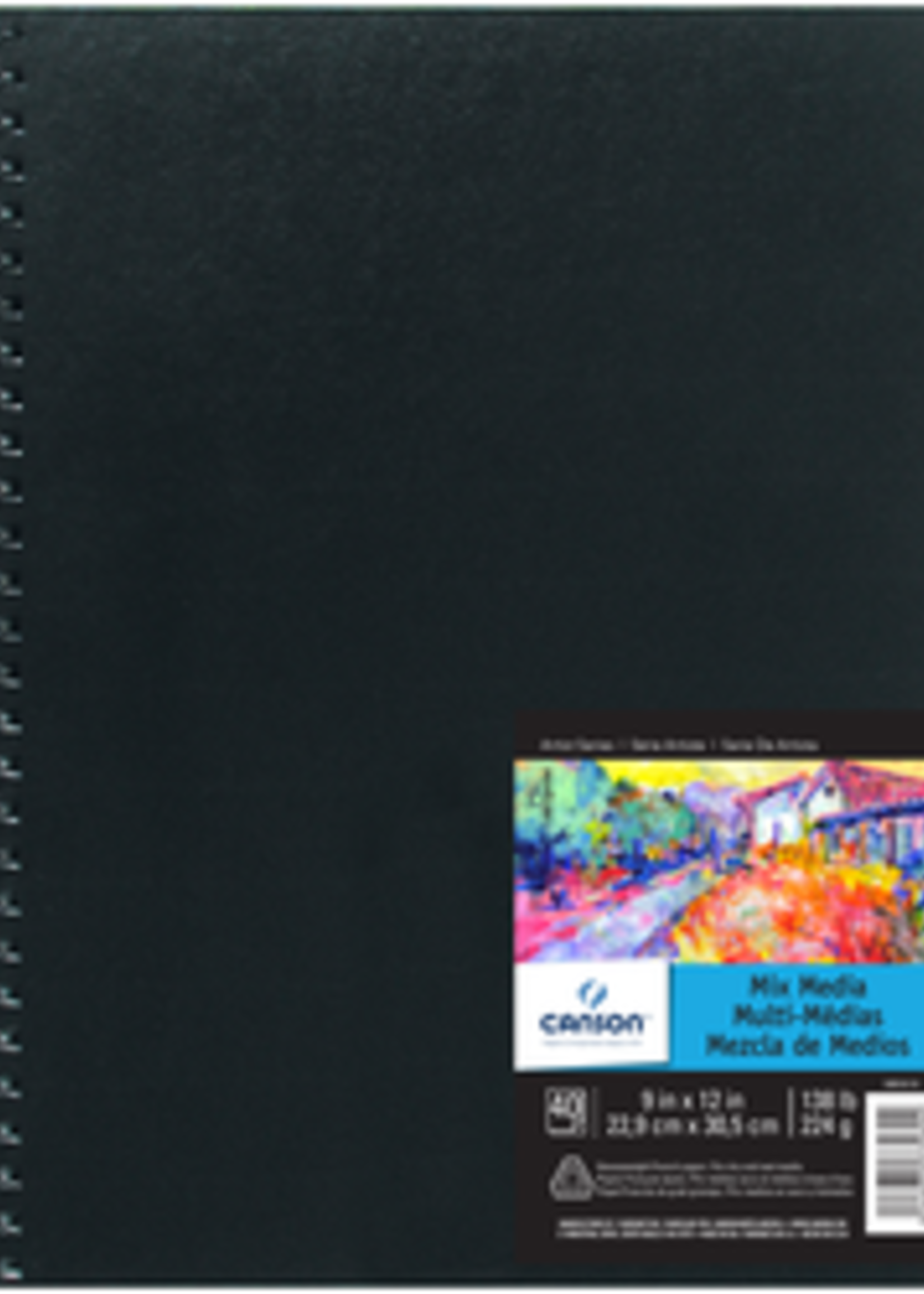 CANSON / PACON PAPERS MIXED MEDIA ARTBOOK 138LB 40 SHEET 9 X 12