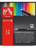 CARAN DACHE/CREATIVE ART CARAN DACHE MUSEUM AQUARELLE 12 COLOURS PENCIL SET