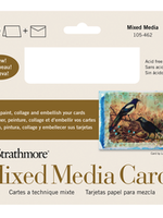 PACON/STRATHMORE MIXED MEDIA FULL SIZE CARD 5 X 6.875- 10 PACK