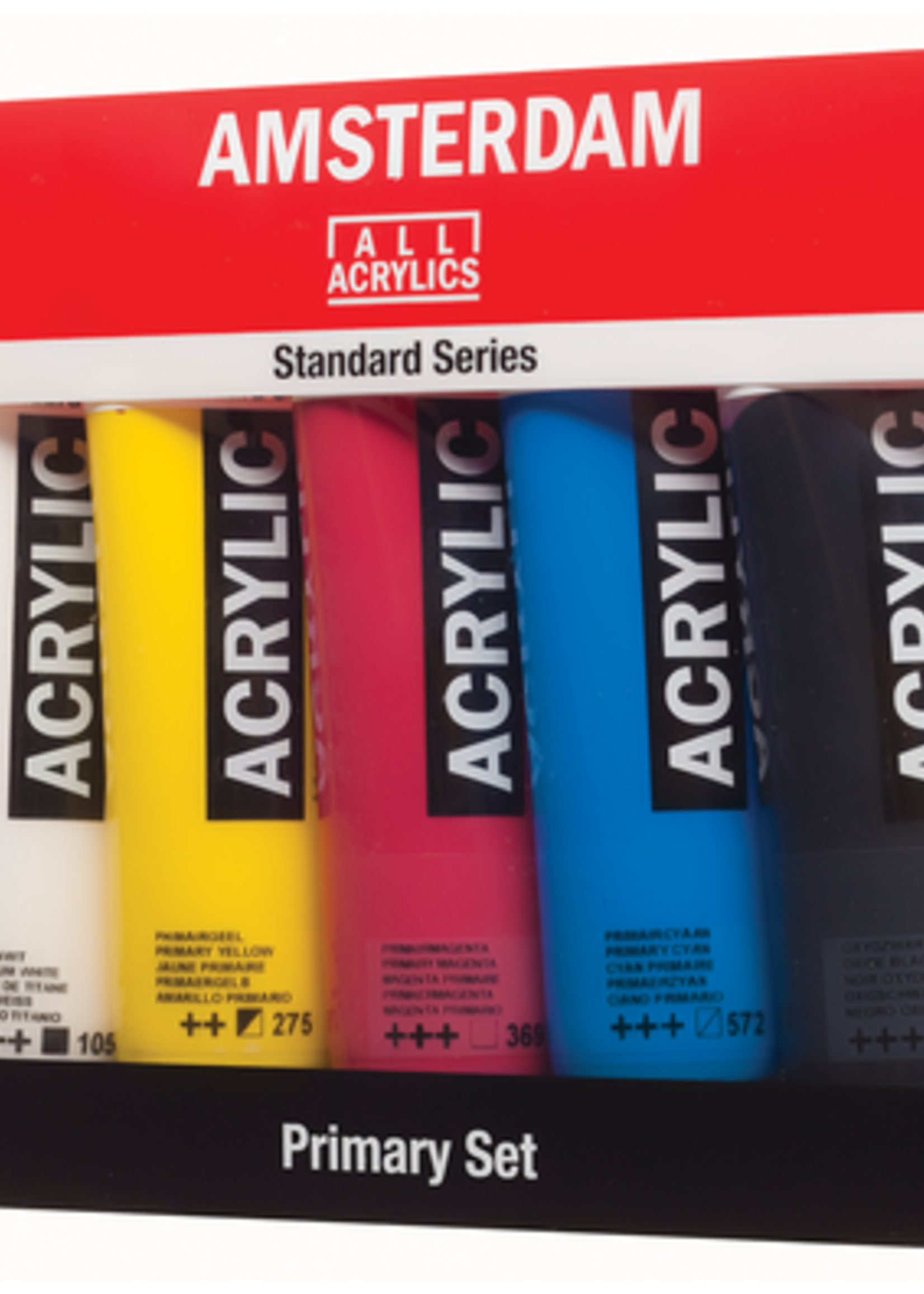 ROYAL TALENS NORTH AMERIC AMSTERDAM ACRYLIC COLOR 120ML 5 TUBE SET PRIMARY COLORS