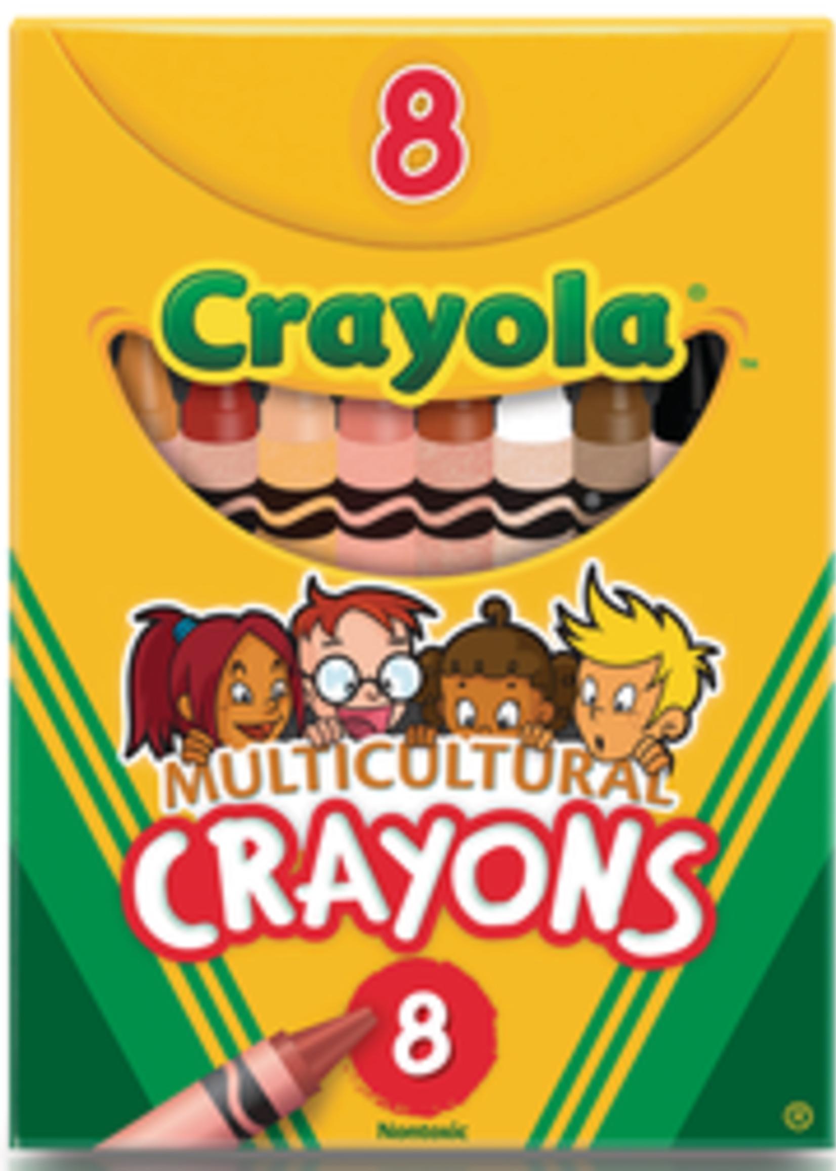 CRAYOLA CARYONS MULTICULTURAL REG 8CT