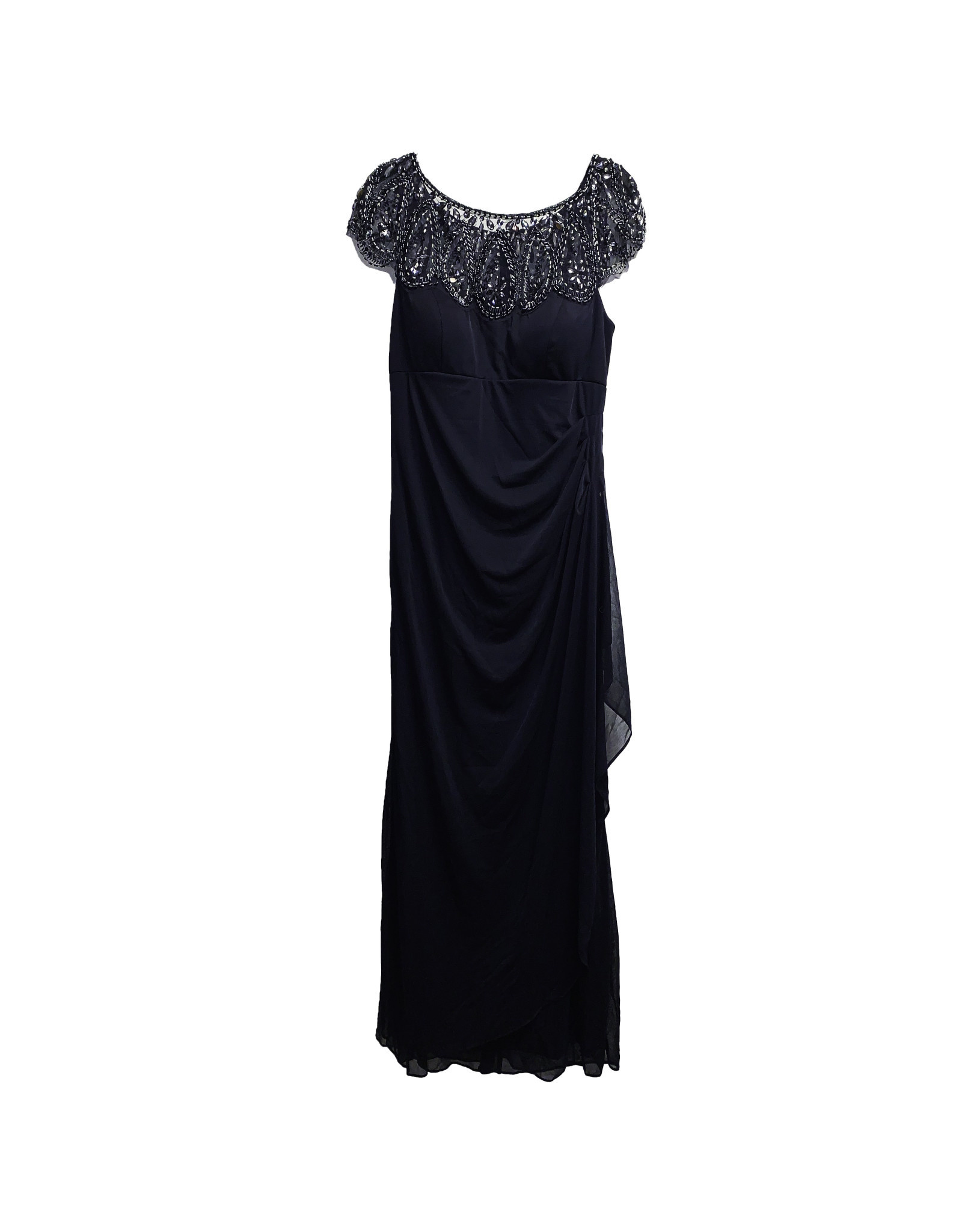 XSCAPE XSCAPE Beaded Ruched Gown