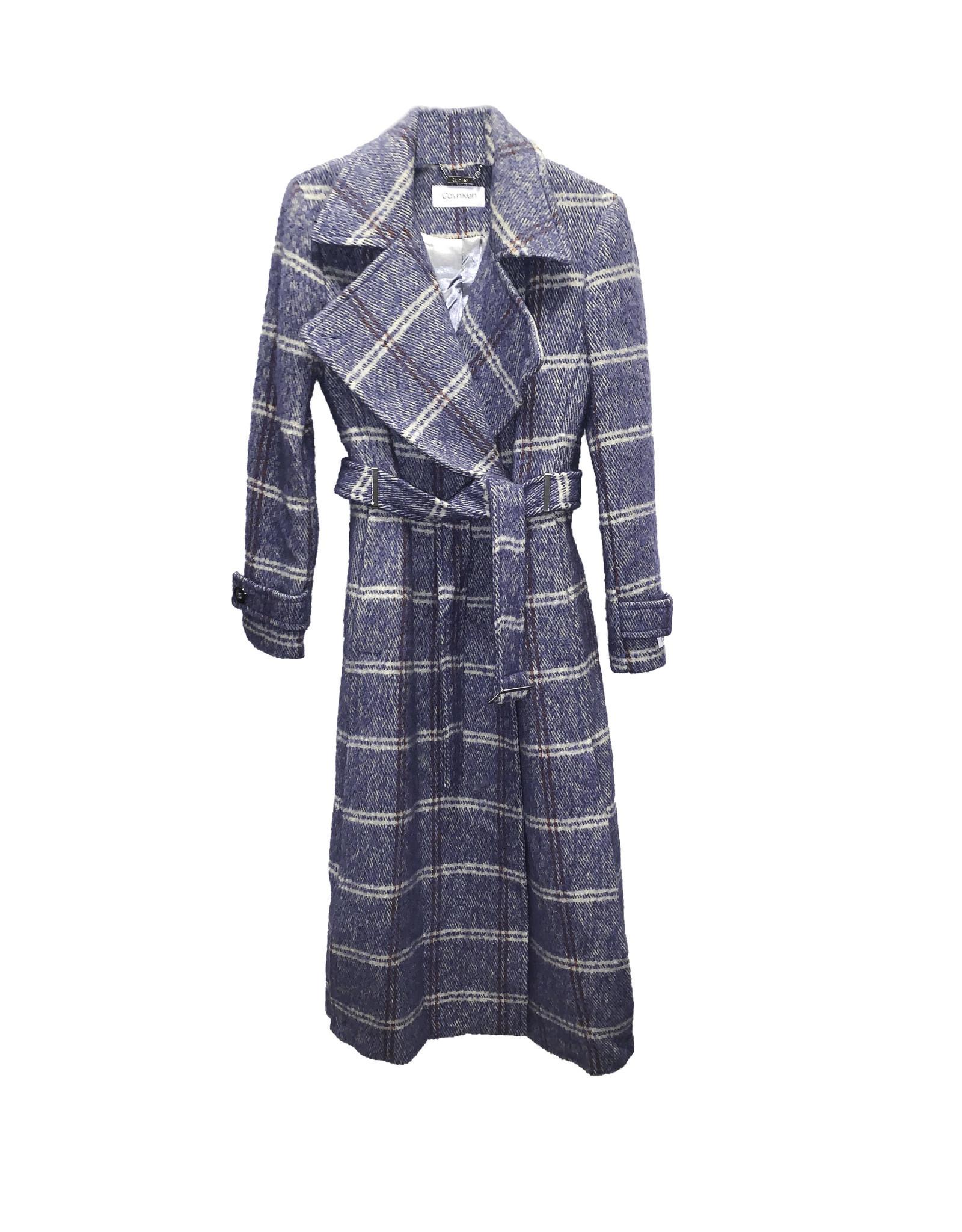 Calvin Klein Calvin Klein Wool Blend Plaid Coat
