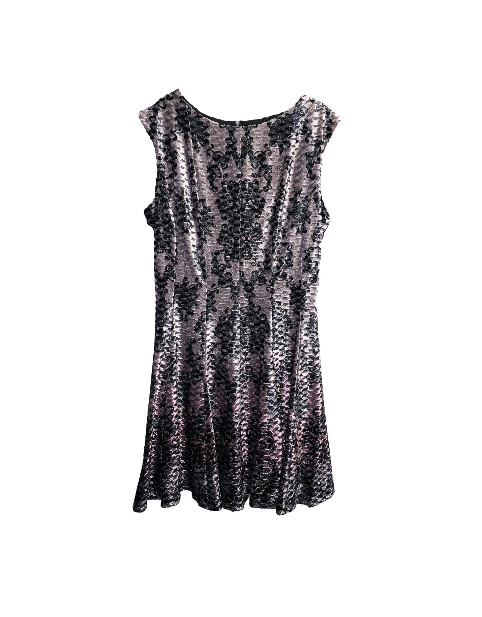 Gabby Skye Gabby Skye Printed Velvet A-Line Dress