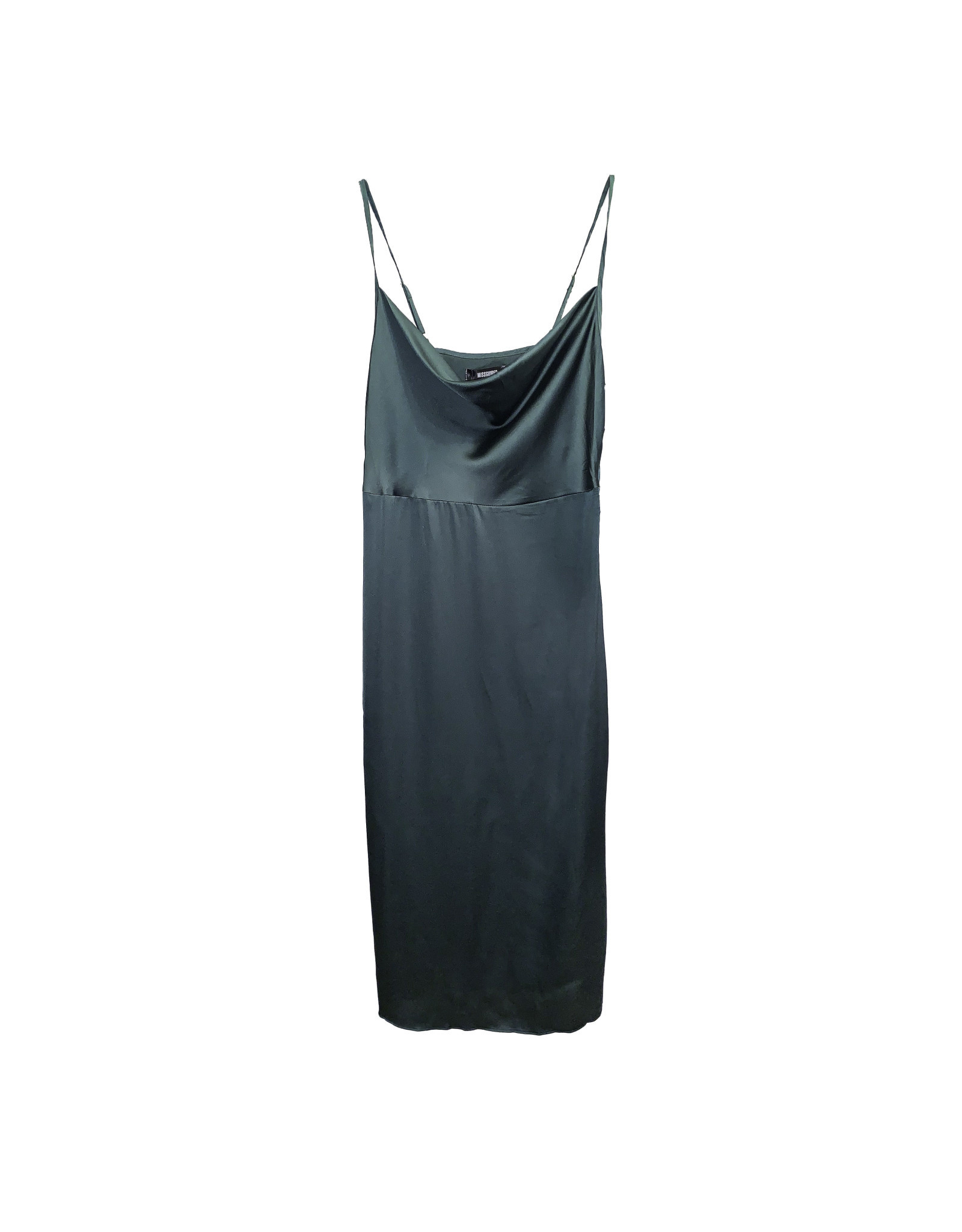 MISSGUIDED MISSGUIDED Green Slip Dress