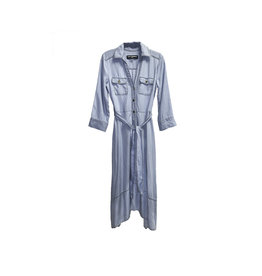 KARL LAGERFELD Karl Lagerfeld Paris Three-Quarter Sleeve Shirtdress