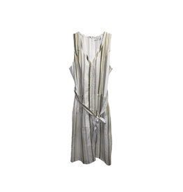 Greylin Greylin Striped Linen & Cotton-Blend Midi Dress