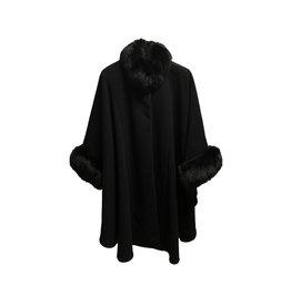 HiSO HiSO Fox Fur-Trimmed Coat Size
