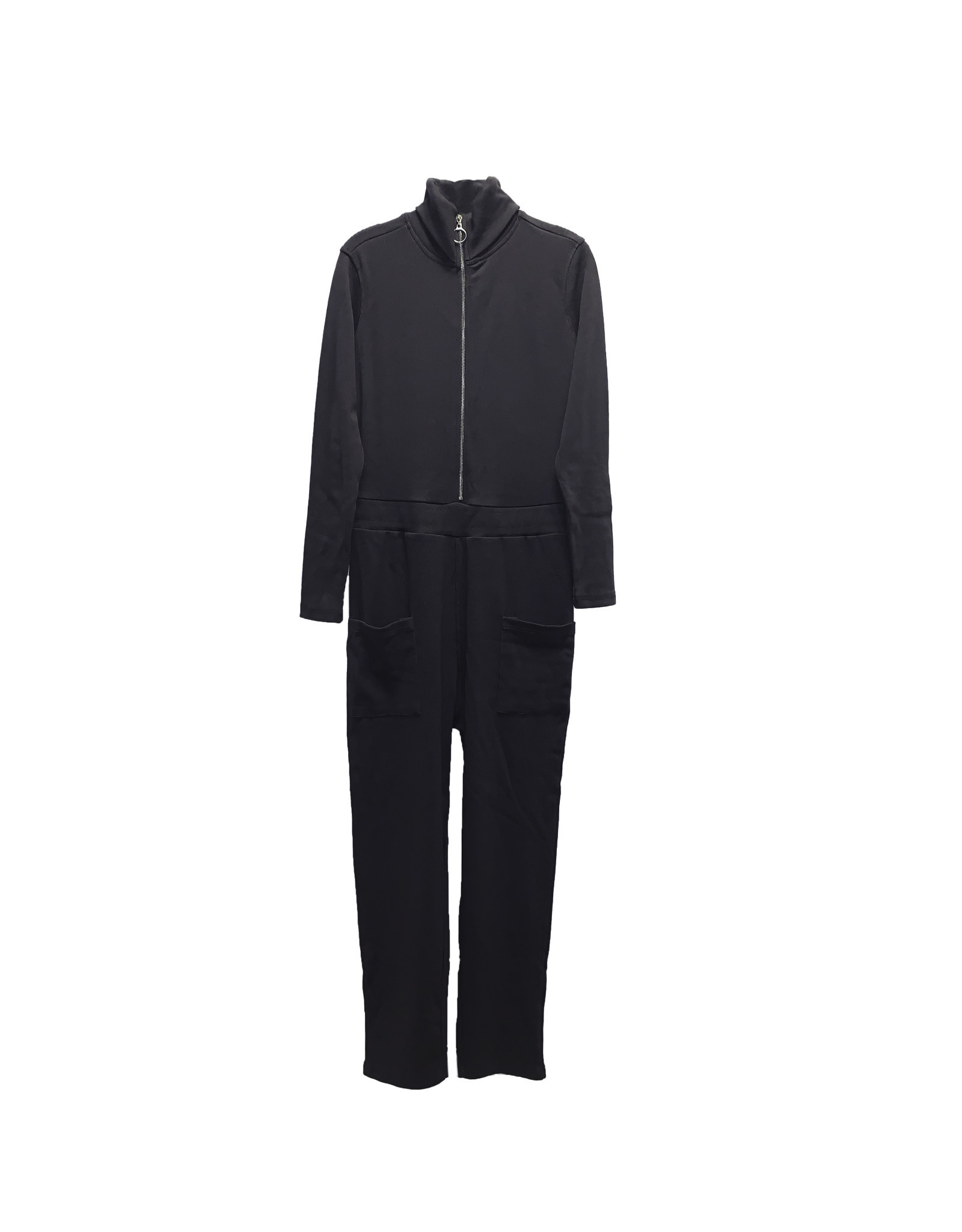 MISSGUIDED Missguided Ribbed Long-Sleeve Boilersuit