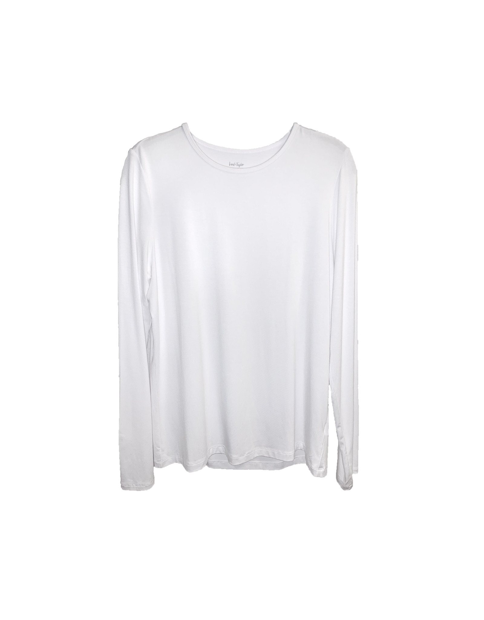 Lord & Taylor Lord & Taylor Iconic Fit White Petite Sweatshirt