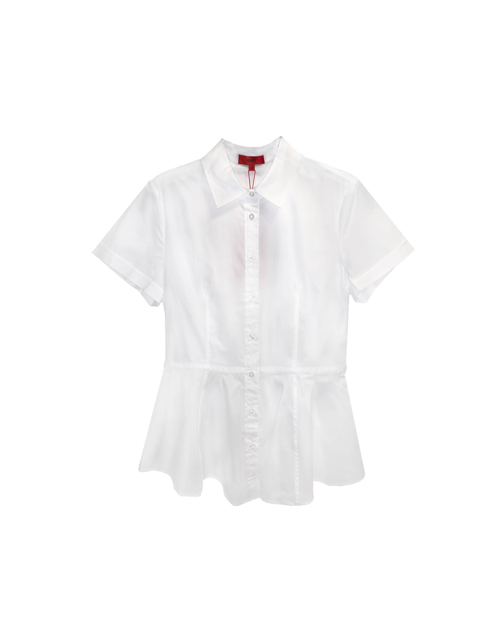 HUGO HUGO Short-Sleeve Peplum Shirt