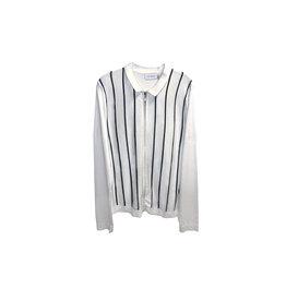 TOPMAN TOPMAN knitted Striped Zip Sweatshirt