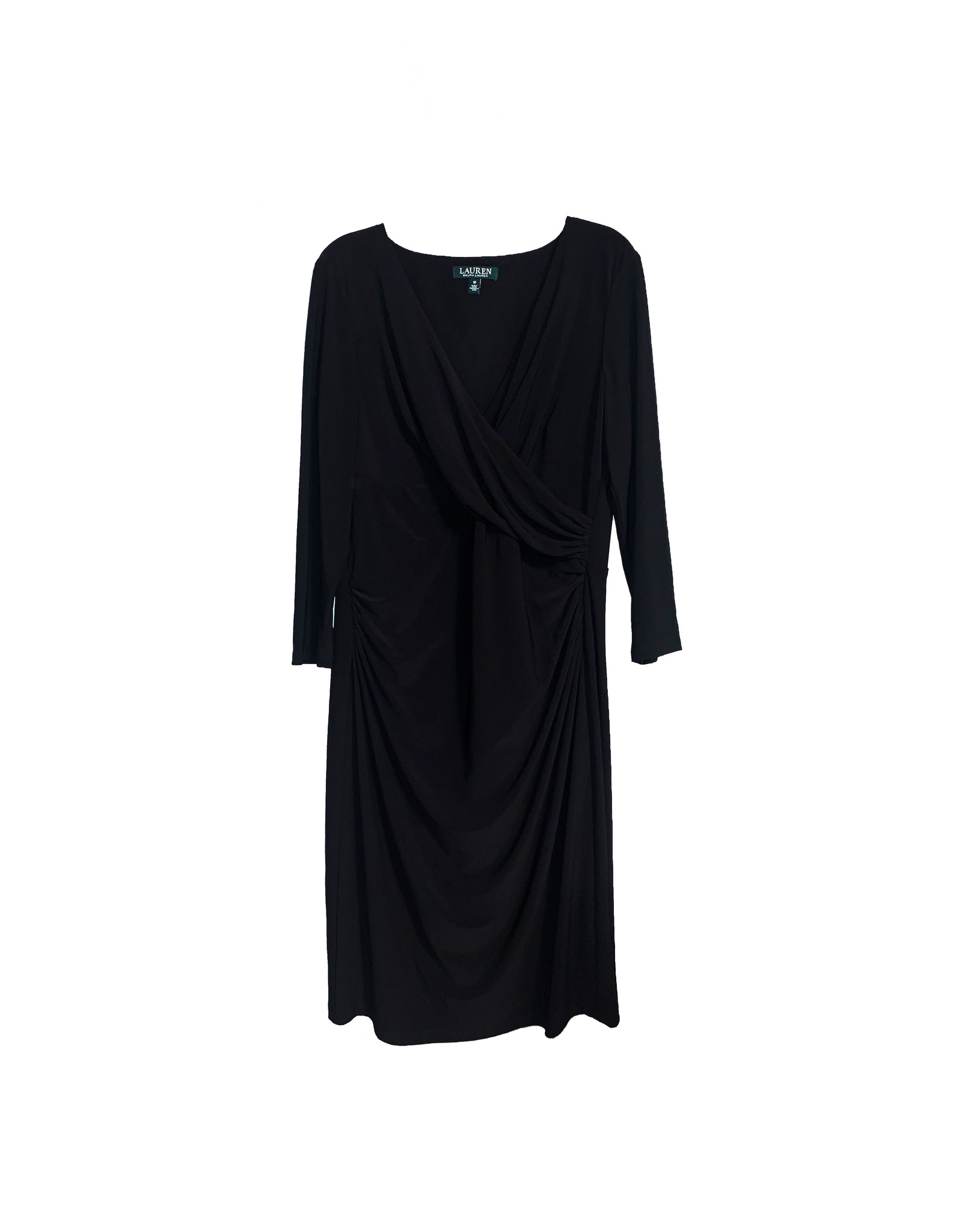 LAUREN RALPH LAUREN LAUREN RALPH LAUREN Ruched V-Neck Dress