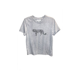 TOPSHOP TOPSHOP Snow Leopard T-shirt in Light Grey
