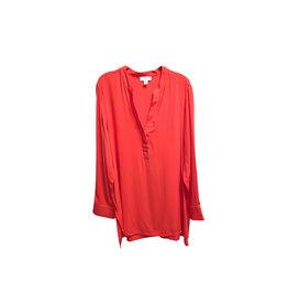 Lord & Taylor Lord & Taylor Vivid Poppy Elaine Tunic Shirt