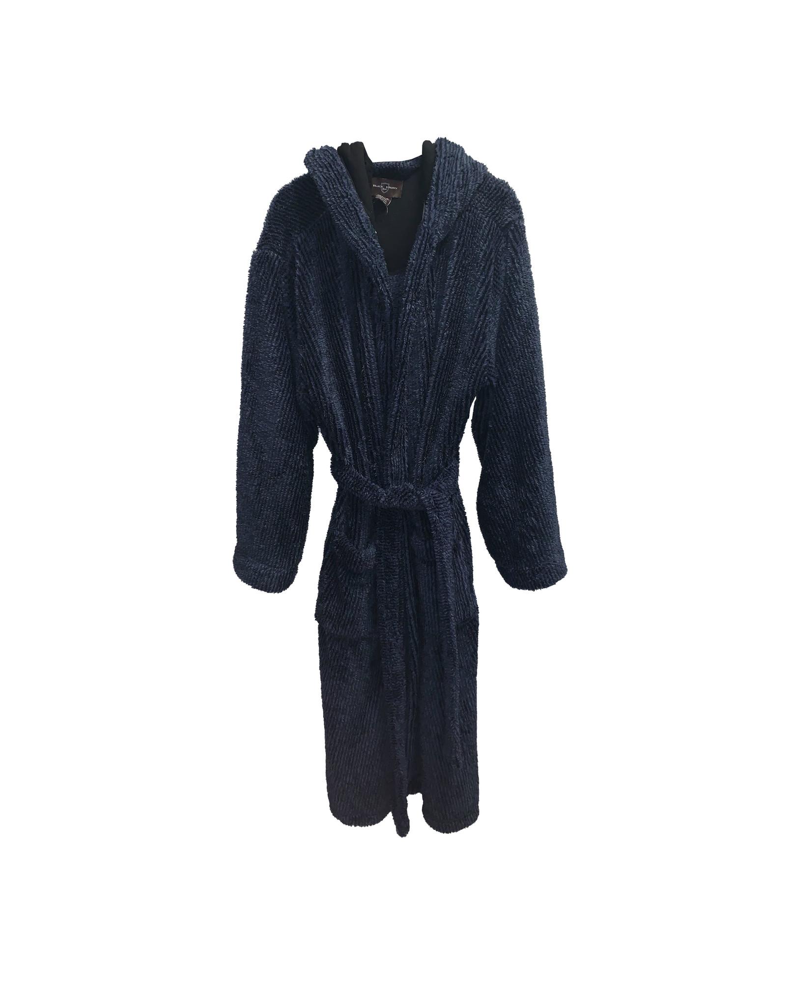 Black Brown 1826 Black Brown 1826 Men's Plush  Hooded Robe