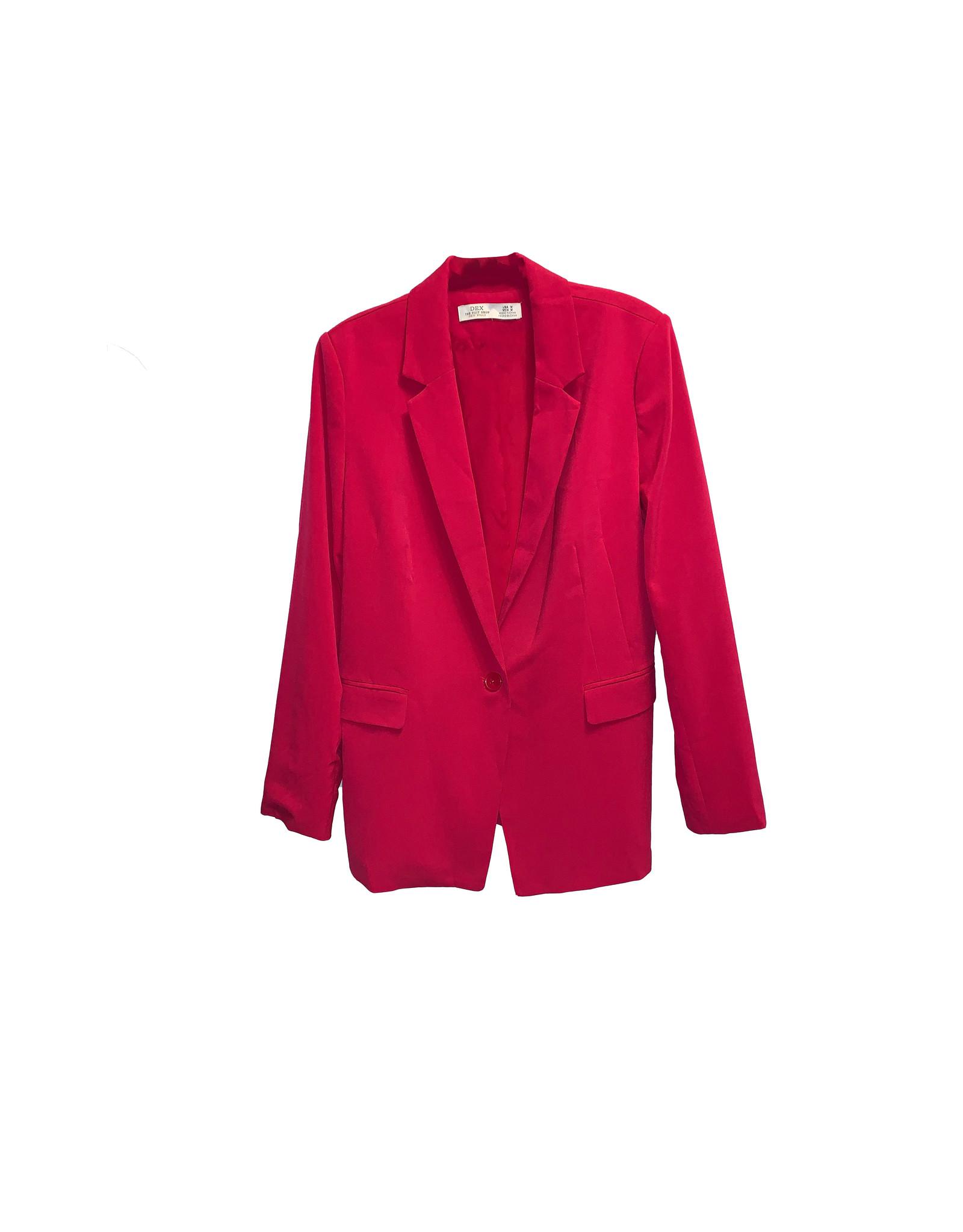 Dex Dex Women's  Sleeve Open Blazer SizeM