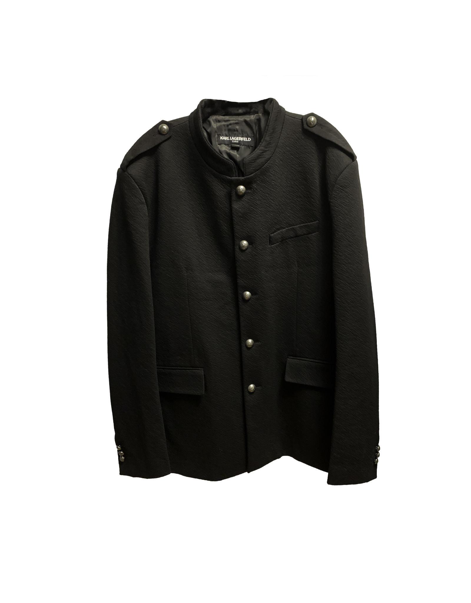 KARL LAGERFELD Karllagerfeld  Men's  Black Jacket  Size XL