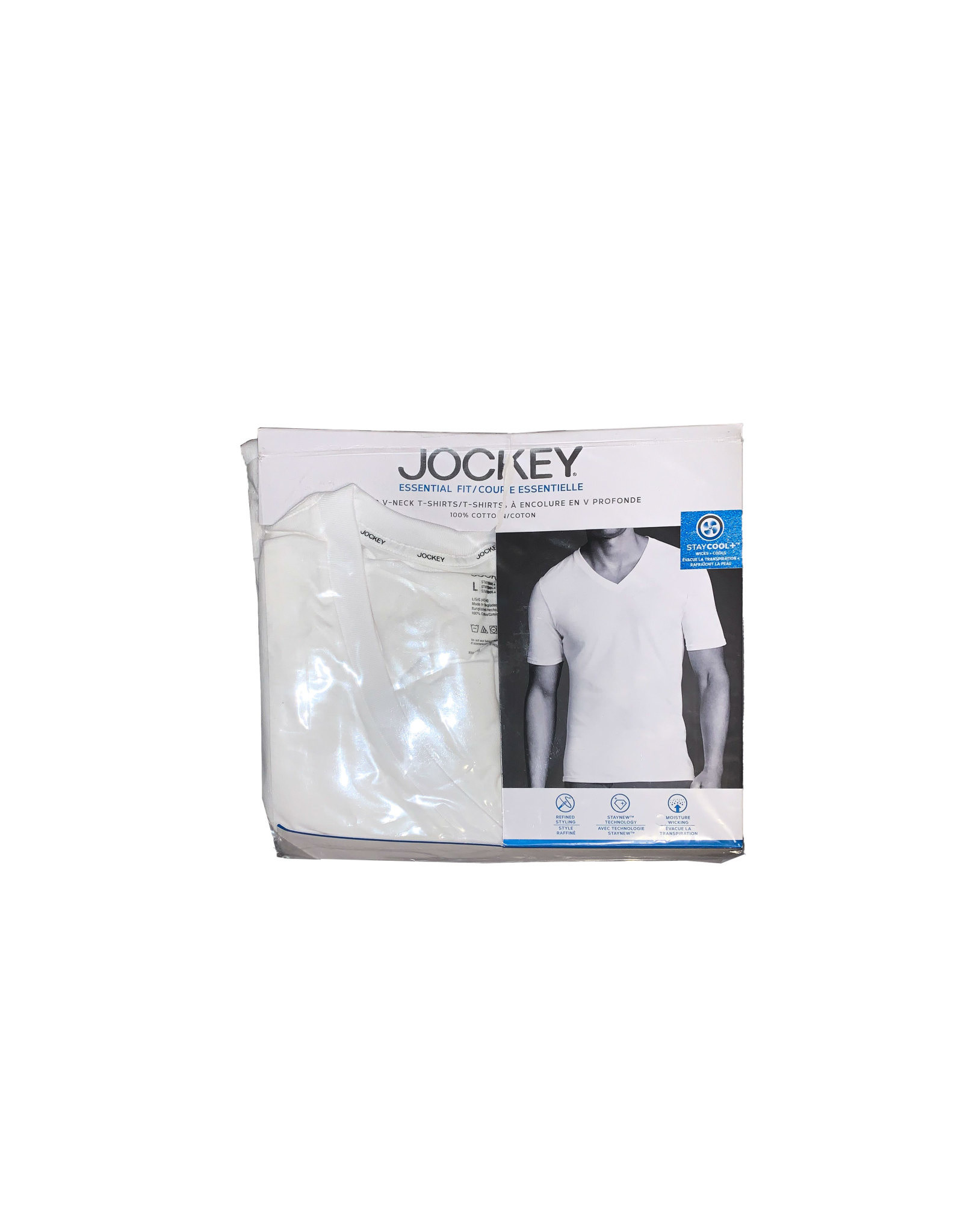 JOCKEY  2 Deep  V-neck  T-shirts  Size L