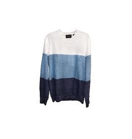 Black Brown 1826 Black Brown  Striped   Sweaters SizeM