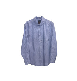 1670 1670 Fine Stripe With Floral Shirt Size: 15½  32/33