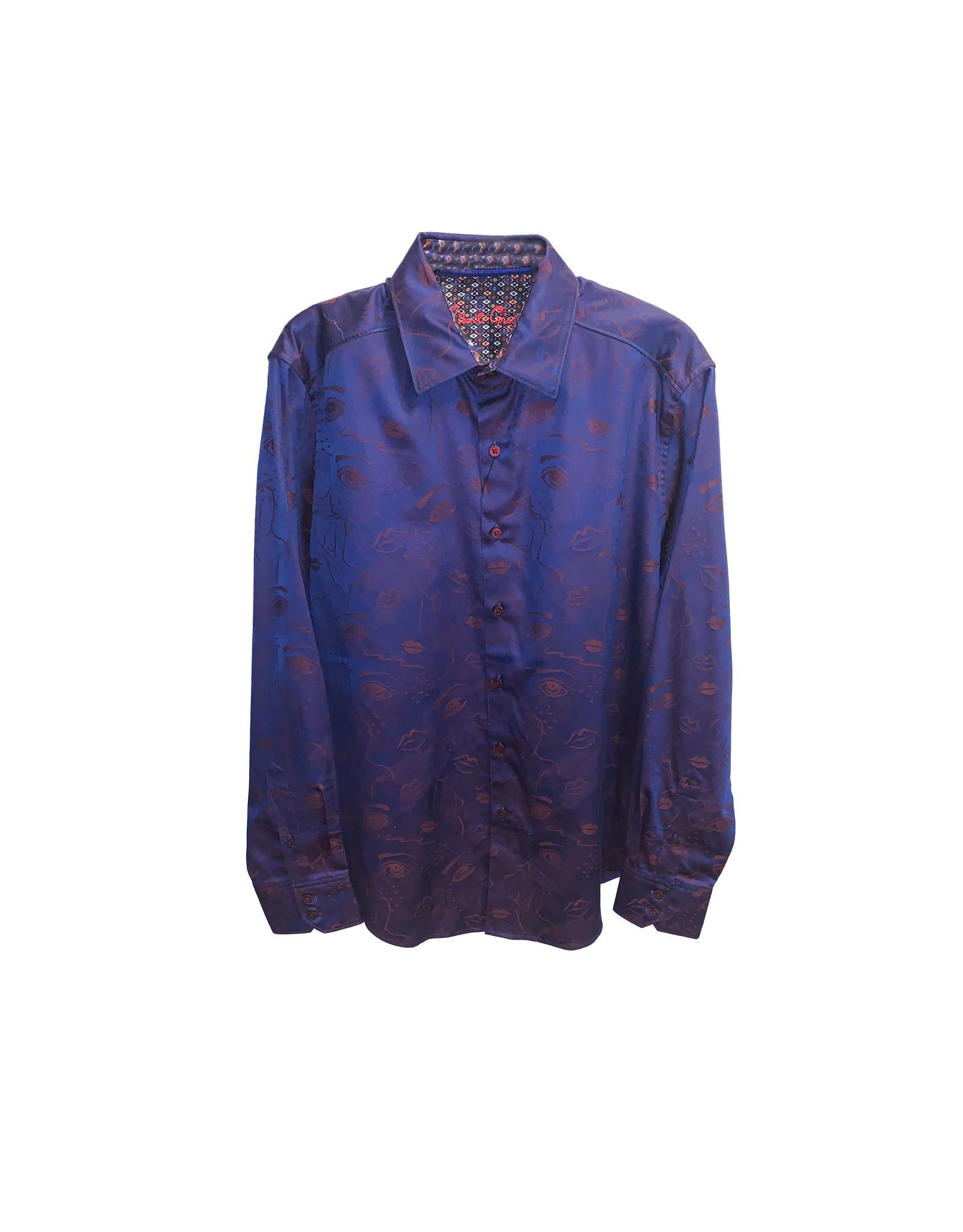 Robert Graham Robert Graham Frenchie Patterned Shirt Size: M
