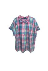 CHAPS Chaps Short-Sleeve Cotton Plaid Shirt Size: 2X