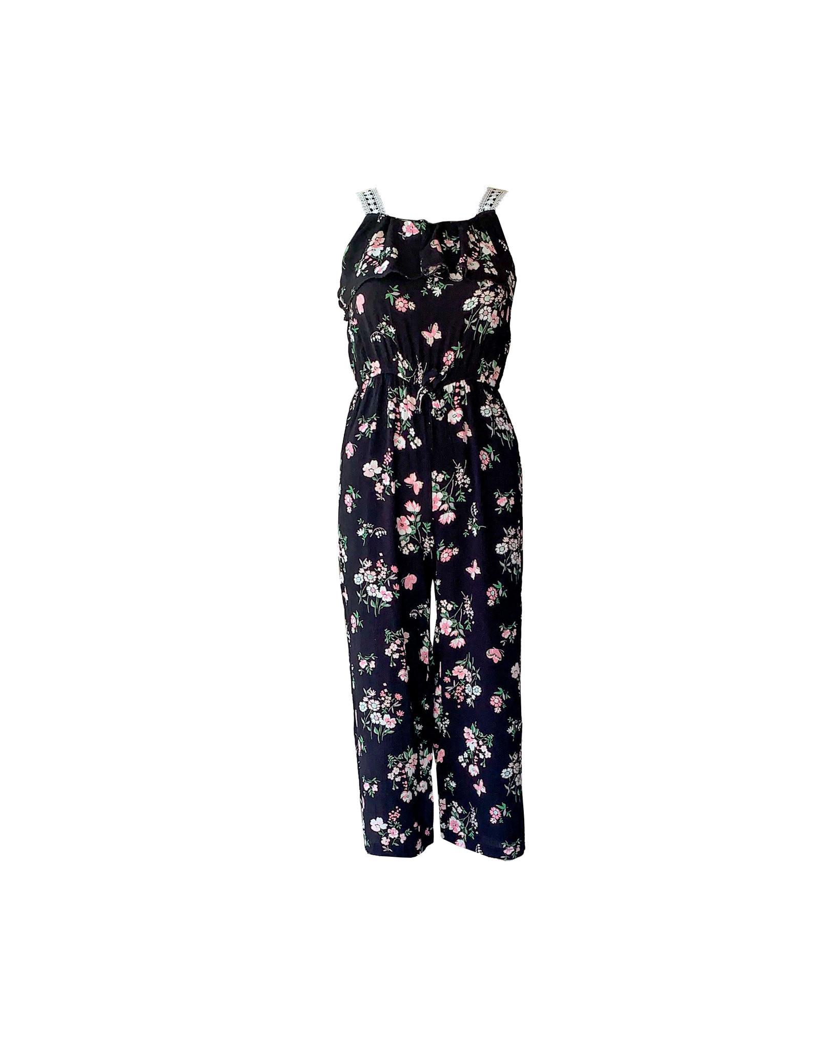 btween BTWEEN  Girl  Floral  Jumpsuit   Size  10/12