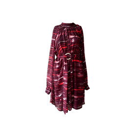 NA-KD NA-KD  Tie-Dye -Print Mock Neck Dress
