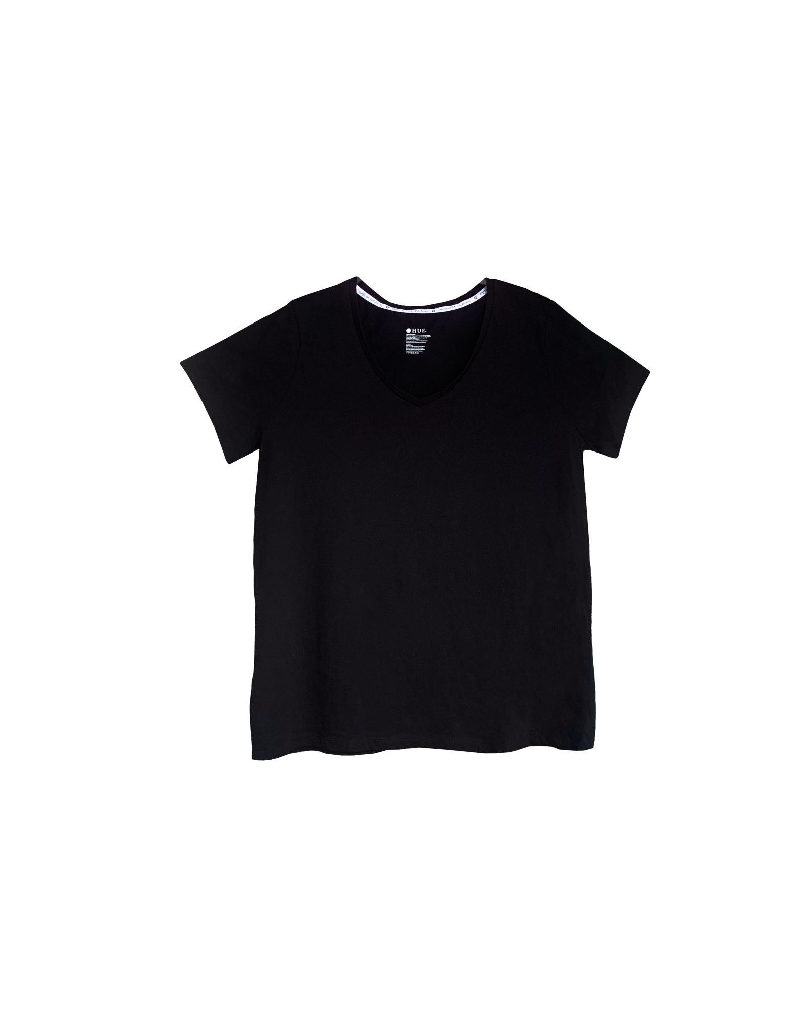 HUE HUE  Black  T-Shirt  Size XL