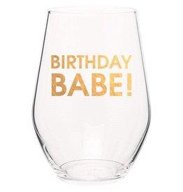 Chez Gagne Birthday Babe - Wine Glass