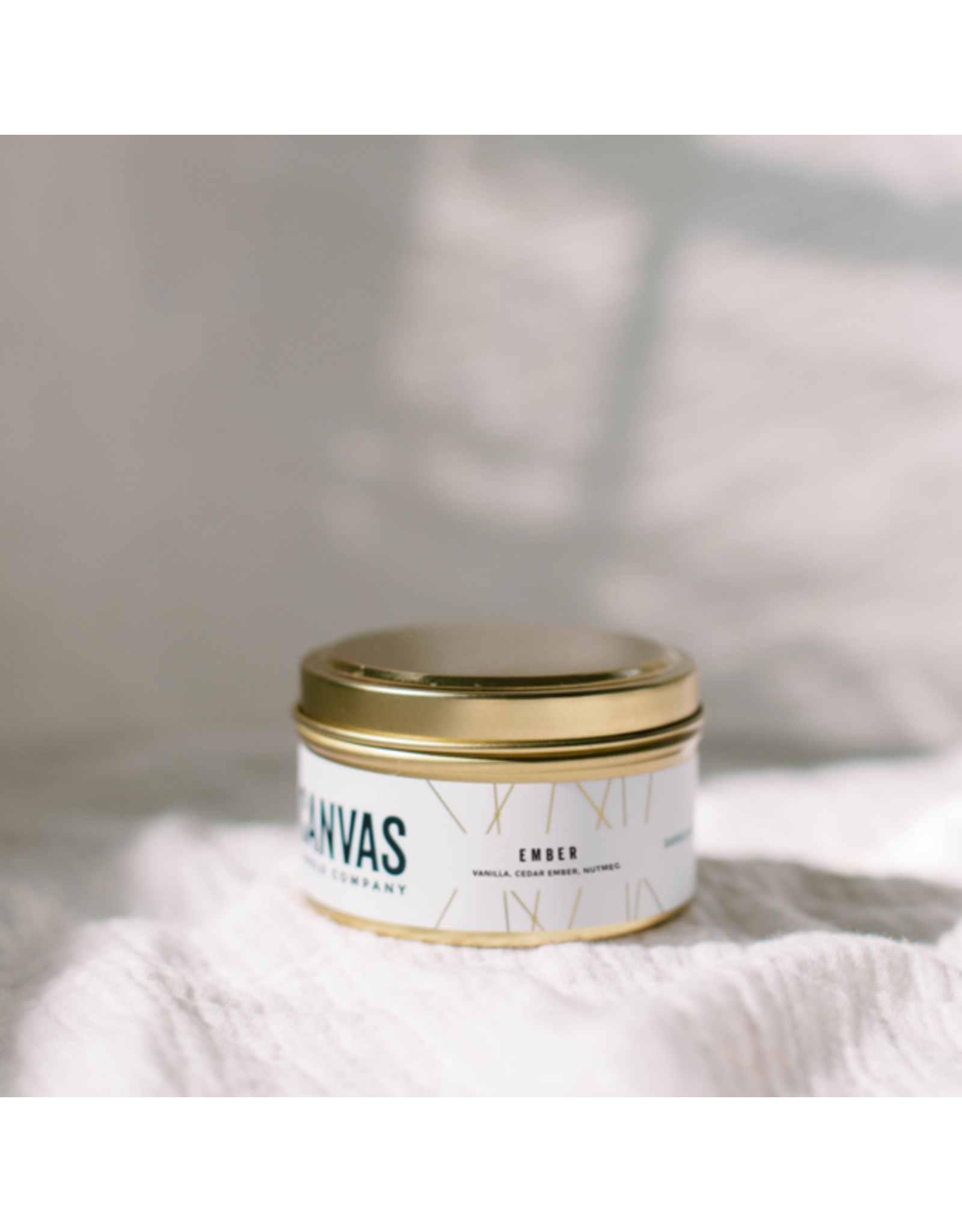 Canvas Candle Co. 6oz Gold Travel Tin - Ember
