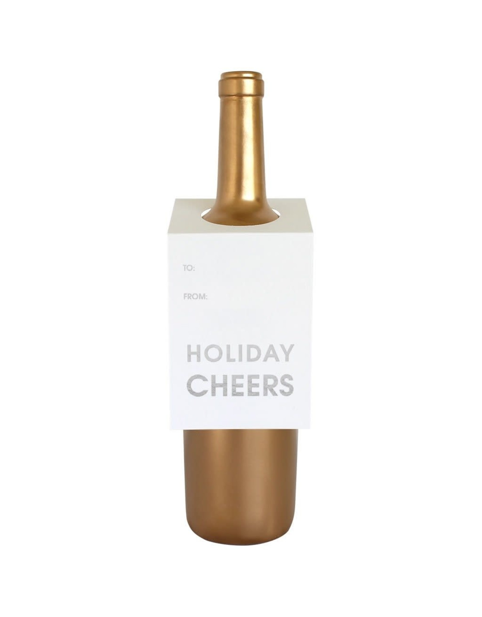 Chez Gagne Holiday Cheers - Wine & Spirit Tag