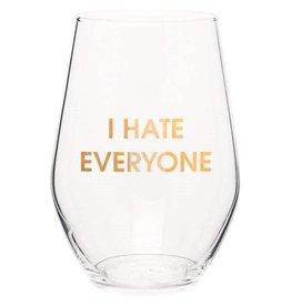 Chez Gagne I Hate Everyone - Wine Glass
